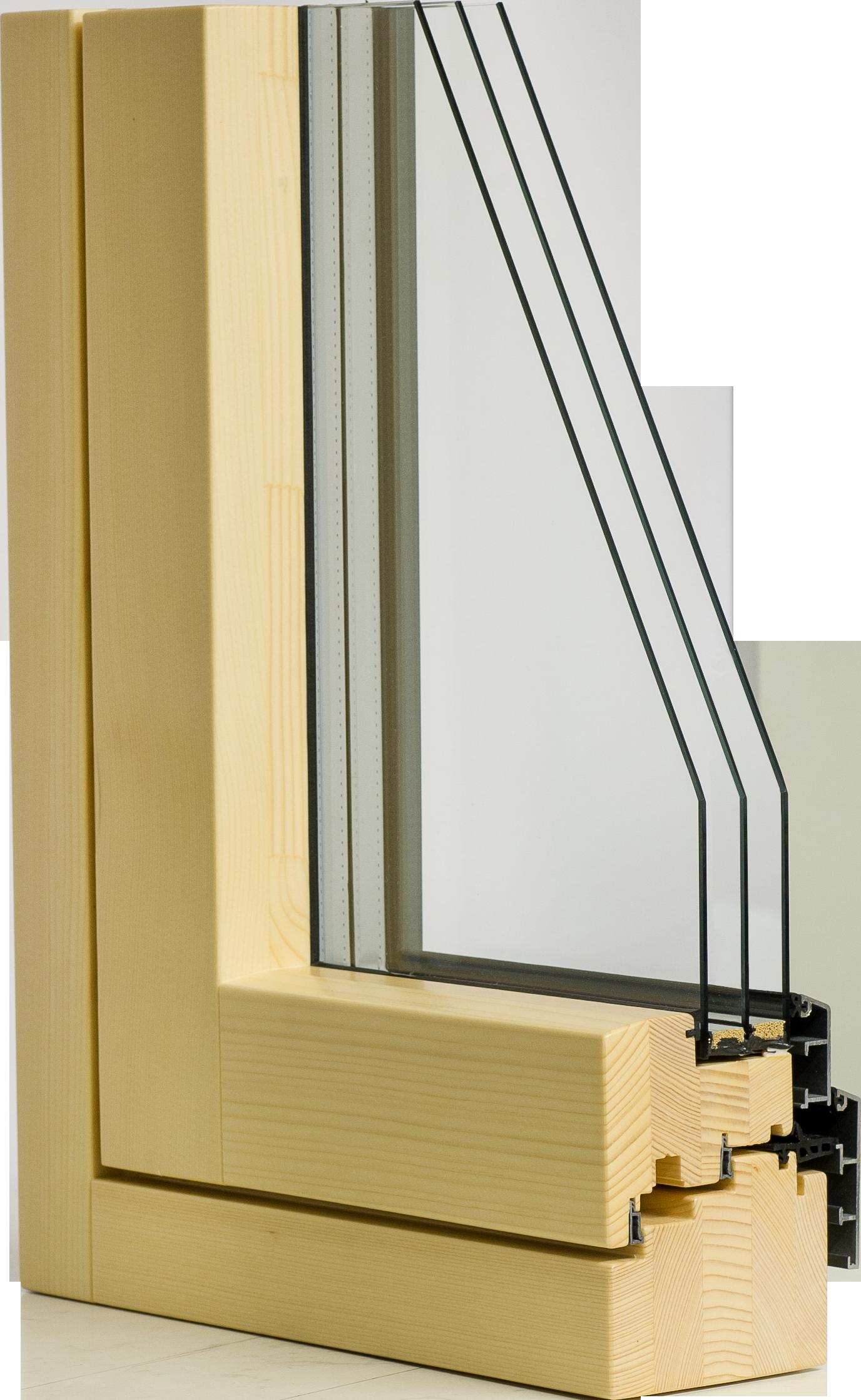 Holzalu Fenster Mit 2 Oder 3 Fach Verglasung Innen Flächenbündig