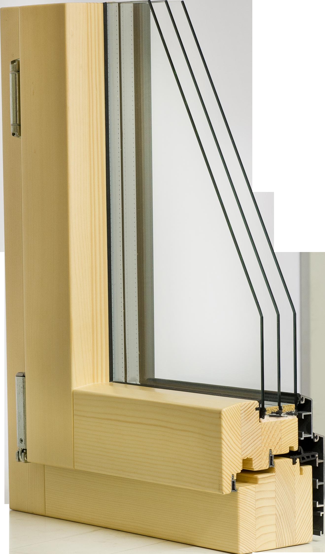 Berühmt Holz/Alu Fenster mit 3 Fach Verglasung - Holz / Alu - Pomella Bernhard HD36