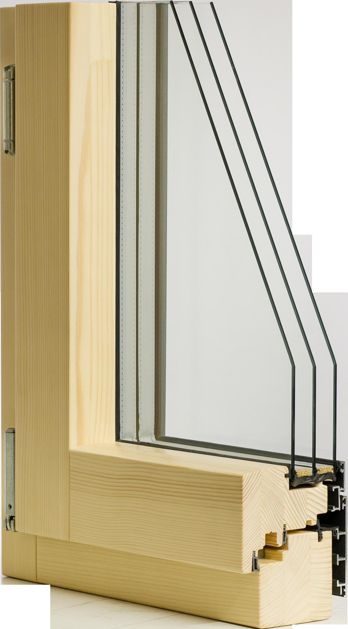 Holz Alu Fenster Mit 3 Fach Verglasung Außen Flächenbündig