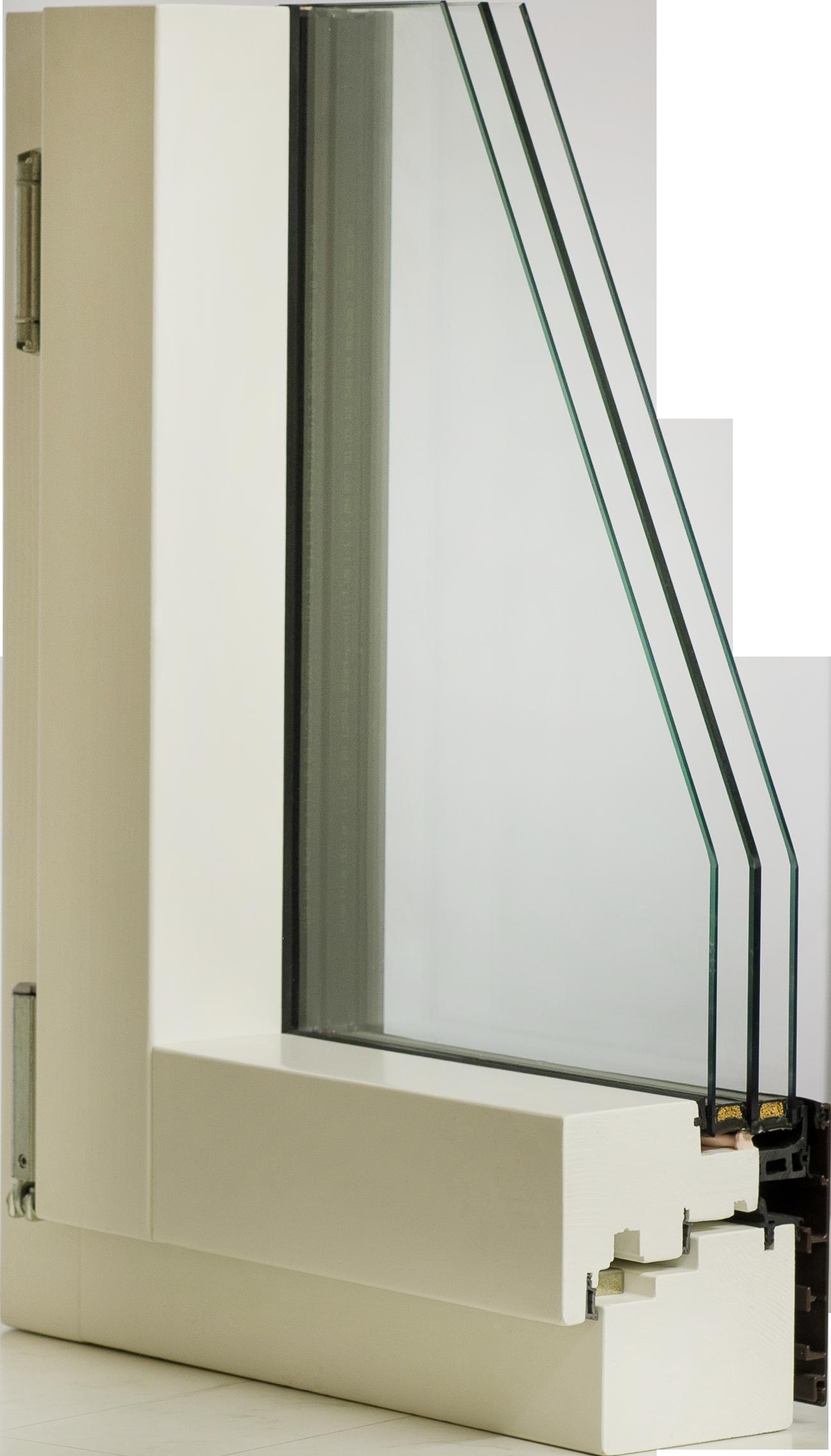 Holz Alu Fenster Mit 3 Fach Verglasung Ohne Rahmen
